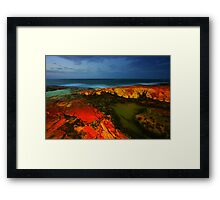 The Rocks at Night Framed Print