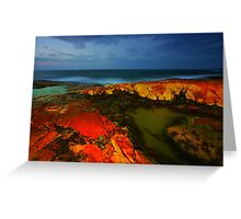 The Rocks at Night Greeting Card