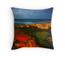 The Rocks at Night Throw Pillow