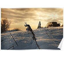 Hadleigh Castle in the Snow Poster