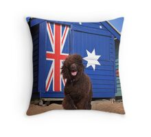 Aussie Irish Water Spaniel Throw Pillow