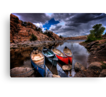 Canoe Break Canvas Print