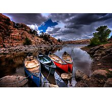 Canoe Break Photographic Print