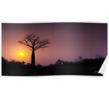 A Smouldering Sunset Poster