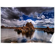 Watson Rock Clouds Poster