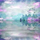 Fantasy Castle Pink & Blue by ChiaraLily