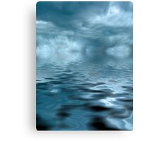 Storm on Blue Water Canvas Print