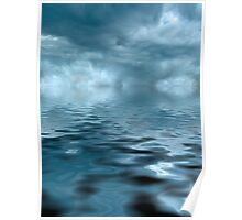 Storm on Blue Water Poster