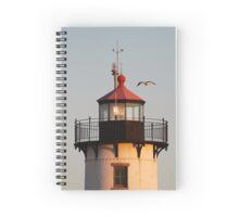 Lantern House, Eastern Point Light as Sunset Spiral Notebook