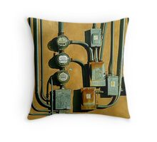 Electric Lines Throw Pillow