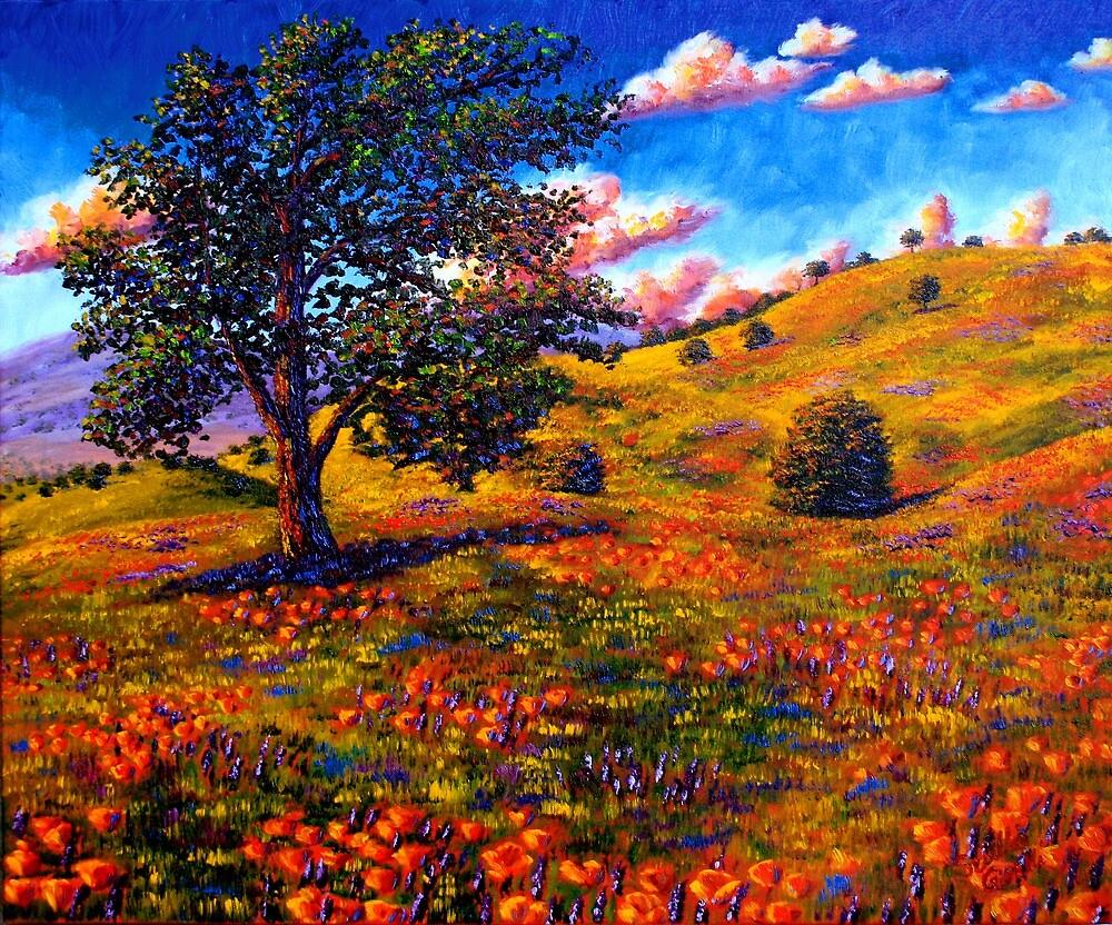 Oak in the Poppy Fields by sesillie
