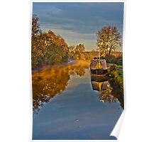 Autumn on the Grandunion Canal Poster