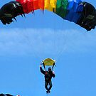 Aussie Flag on The Parachutist  by danita clark