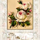 floral framed flowers by cynthiab