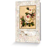 floral framed flowers Greeting Card