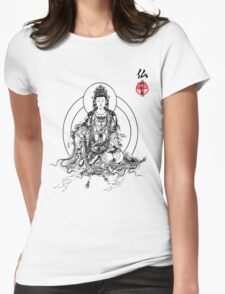 Floating Buddha Womens Fitted T-Shirt