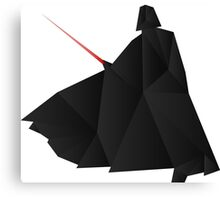 Star Wars:Darth Vader Origami   Canvas Print