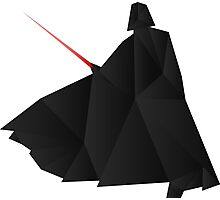 Star Wars:Darth Vader Origami   Photographic Print