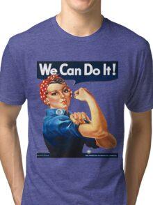 Rosie the Riveter Tshirt Tri-blend T-Shirt