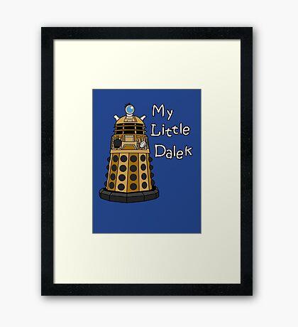 My Little Dalek Framed Print