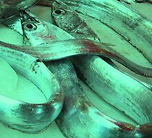 Market Series - Catania fish market by Christine Oakley
