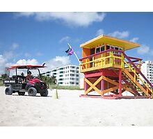 SOBE Lifeguards Photographic Print