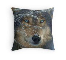 Wolf Eyes Throw Pillow