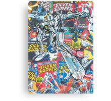 Vintage Comic Silver Surfer Canvas Print