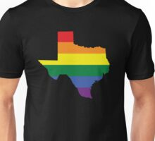 TEXAS STATE GAY PRIDE FLAG Unisex T-Shirt