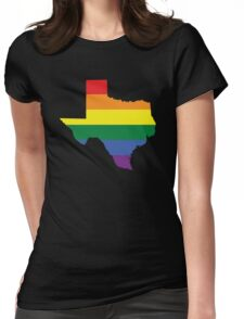 TEXAS STATE GAY PRIDE FLAG Womens Fitted T-Shirt