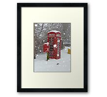 Red Telephone Box. Winter. England. Framed Print