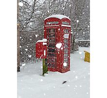 Red Telephone Box. Winter. England. Photographic Print