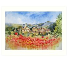 Poppies in Provence Art Print