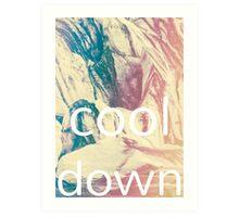 Cool Down Art Print