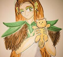 An Elf-Druid and the Cute little kitten by MeghanLeVaughn
