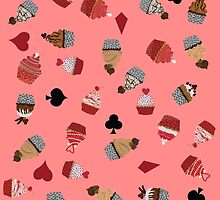 Deck Of Cards Cup Cakes pink by Craicin Designs