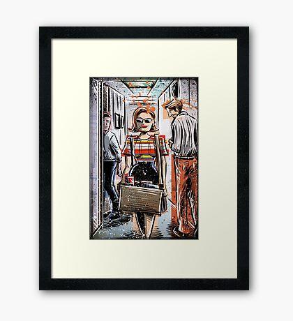 Mad Men Peggy Olson Art lost horizon joe badon Elisabeth Moss Don Draper Sterling Cooper Ad Advertising AMC Female Girl Smoking Red Framed Print