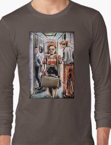 Mad Men Peggy Olson Art lost horizon joe badon Elisabeth Moss Don Draper Sterling Cooper Ad Advertising AMC Female Girl Smoking Red Long Sleeve T-Shirt