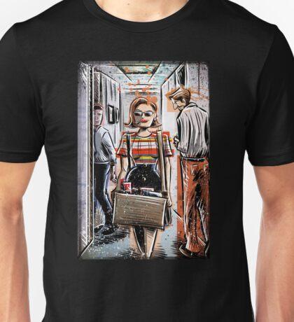 Mad Men Peggy Olson Art lost horizon joe badon Elisabeth Moss Don Draper Sterling Cooper Ad Advertising AMC Female Girl Smoking Red Unisex T-Shirt