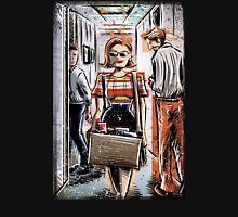Mad Men Peggy Olson Art lost horizon joe badon Elisabeth Moss Don Draper Sterling Cooper Ad Advertising AMC Female Girl Smoking Red T-Shirt
