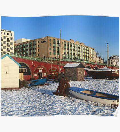 Brighton seafront Poster