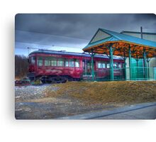 Parked Trolley Canvas Print