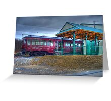 Parked Trolley Greeting Card