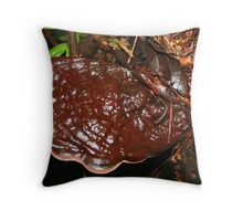 Brown Tree Fungus (Varnish Conk) in the Rainforest Throw Pillow