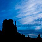 Butte Silhouettes by Nickolay Stanev