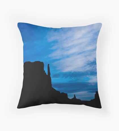 Butte Silhouettes Throw Pillow