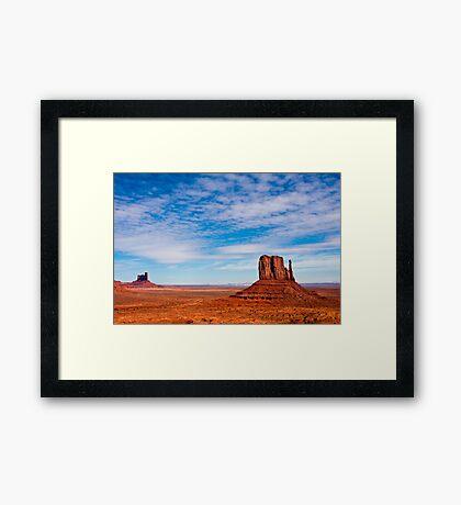 West Mitten Landscape Framed Print