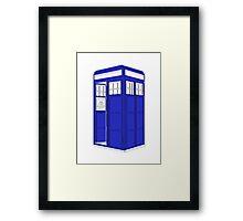 Minimalist TARDIS Framed Print