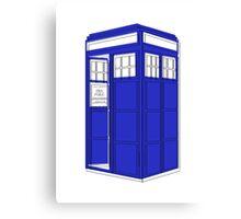 Minimalist TARDIS Canvas Print