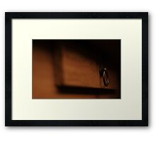Table drawer draws attention Framed Print